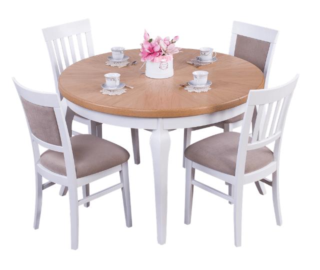 stół zkrzesłami dojadalni